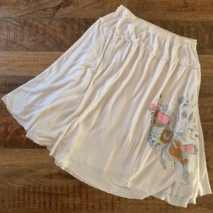 Free People Embroidered Patchwork Skirt